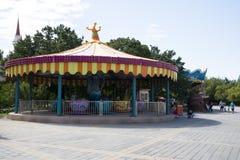 Park rozrywki, nowożytna architektura Zdjęcia Royalty Free