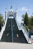 Park rozrywki, nowożytna architektura Obrazy Royalty Free