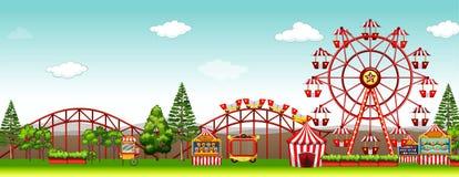 Park rozrywki przy dnia czasem Obraz Royalty Free