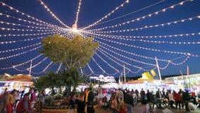 Park rozrywki przy noc Fotografia Royalty Free