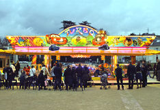 Park rozrywki w wieczór w Chartres Obrazy Stock