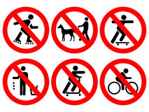 Free Park Rules Signs Stock Photography - 4225132