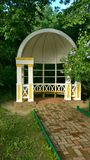 Park in the Russian country estate. House in an old Russian manor Stock Photography