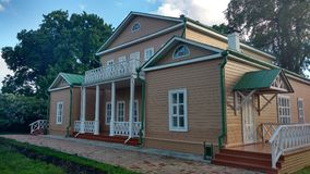 Park in the Russian country estate. House in an old Russian manor Royalty Free Stock Photos