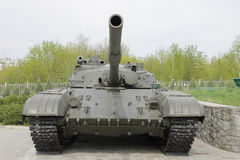A park is the Russian tank. Tank Military Traditionally Russian Russian Federation Employment of military Powers Occupying Forces to Land motor Vehicle History royalty free stock photos