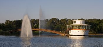 Park's lake. The National Park in the city of Ramat-Gan, Israel Royalty Free Stock Photography
