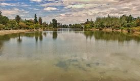 Park Sans MartÃn gelegen in Mendoza - Argentinien Lizenzfreies Stockbild