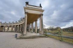 In the park of Sanssouci palace. Visiting Sanssouci palace park. Potsdam, Germany royalty free stock photo