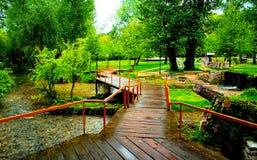 The Park of Santa Barbara. Park of Santa Barbara in Drama , Greece Royalty Free Stock Photo