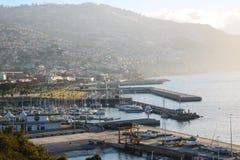 Park Santa Catarina - View on Funchal, Madeira royalty free stock image