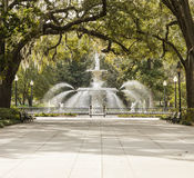 Park in Savannah, Georgia Royalty Free Stock Image
