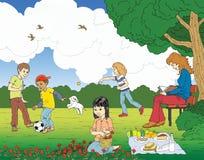 Park scene vector illustration