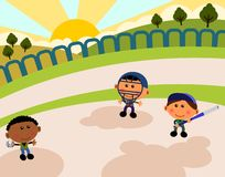 Park scene baseball Royalty Free Stock Photography