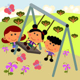 Park scene with swing Stock Photography