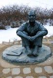 Park, schilder soo-Keun monument SEOEL - JULI 30: Het veranderen van wachten van de vriend van de koning Royalty-vrije Stock Foto's