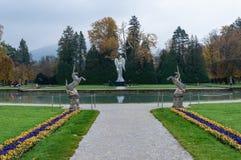 Park Schloss Hellbrunn, Salzburg, Ober?sterreich lizenzfreies stockbild