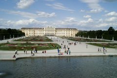 Park in Schonbrunn Palace Stock Photography