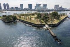 Park on sea. Daiba park on sea in Tokyo bay area Stock Photo