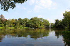 Park. A sea with fountain in germany Stock Photography