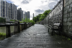 Park seat. Of the west lake cultreal square Stock Image