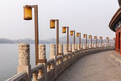 Park See-Promenade Peking-Beihai Stockbilder