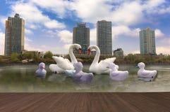 Park of Seoul South Korea. Lake at Seokchonhosu Park of Seoul South Korea Stock Photography