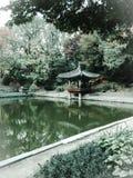 Park Seouls Korea im Fall Lizenzfreies Stockbild
