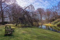 The park in the seventeenth century Duin & Berg estate in Santpoort, The Netherlands.  stock photography