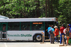 Park Shuttle Bus Stock Photo