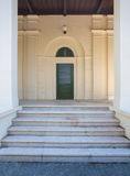 Park sight seeing building entrance in Zagreb Croatia Royalty Free Stock Images