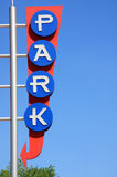 PARK sign. It is PARK sign,blue sky for background Stock Images