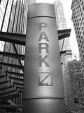 Park sign. Nyc stock photos