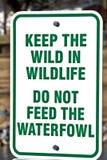 Park Sign - Do Not Feed Stock Photos