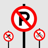 Park sign icon great for any use. Vector EPS10. Royalty Free Stock Images