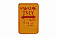 Park Only sign - Permit parking Royalty Free Stock Photos