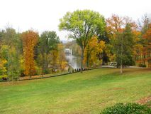 Park Sofiyivka in Ukraine. Autumn. Royalty Free Stock Images