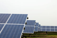 Park with solar cells Stock Image