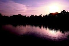 Park-Sonnenuntergang lizenzfreie stockbilder