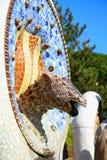 park spain för barceloneguellödla Royaltyfri Foto