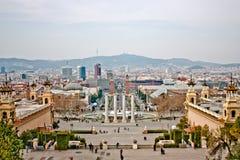 park spain för gaudi för barcelona byggnadsstad fotografering för bildbyråer