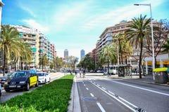 park spain för gaudi för barcelona byggnadsstad royaltyfri fotografi