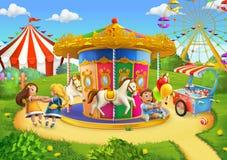 Park, Spielplatzhintergrund lizenzfreie abbildung