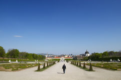 Park. Spring park. Belvedere in Vienna. Austria Europe Royalty Free Stock Photography