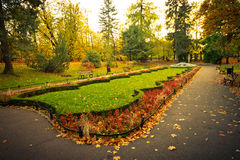 Park square scenery in autumn Royalty Free Stock Photography