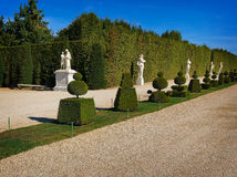 Park. With statuary and shrubs stock photo