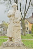 Park statue made of wood in traditional style Stock Photo