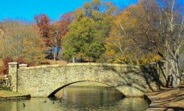 Park with Stone Bridge 1 Stock Photos