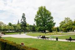 Park in Strasbourg France Stock Photography