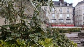 Park in straten van Rouen, Normandië Frankrijk stock video