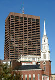 Park Street Church. And Building in Boston Stock Photos